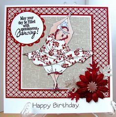 Art Impressions Ai Golden Oldies Dotty. Dance themed handmade card.
