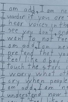 His Teacher Asked Him to Finish the Phrase, I Am, but This Boy With Autism Response Will Move You to Tears Poem Titles, Respect Life, Teacher Boards, How To Influence People, Autism Resources, Autism Spectrum Disorder, School Psychology, Aspergers, Sayings