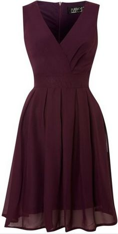 Pussycat - Romantic Chiffon V neck Wrap Dress, Purple