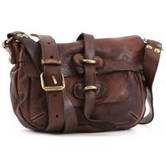 Campomaggi Lavata Shoulder Bag Leather cognac 23 cm - C1258VL-1702 - Designer Bags Shop - wardow.com