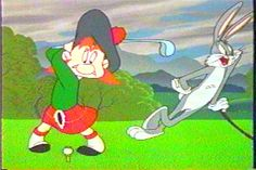 "Angus McCrory challenges Bugs Bunny in the episode, ""My Bunny Lies Over The Sea"""