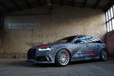 Audi RS6 dazzle camo