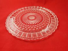 Vintage Cut Glass Cake Plate by AlwaysPlanBVintage on Etsy