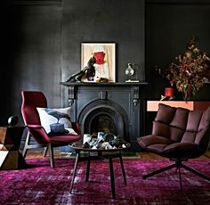 burgundy interior, styling by Heather Nette King, photo by Mike Baker, copyright Fairfax Media