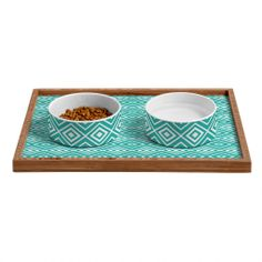 Lisa Argyropoulos Diamonds Are Forever Aquatic Pet Bowl and Tray | DENY Designs Home Accessories