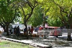 Foto de stock : Ambulant stand for selling fruits in San Juan Argentina