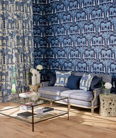 Pavilion Garden wallpaper by Nina Campbell distributed by Osborne & Little