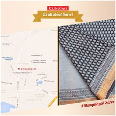 Mangalagiri indicates 'The holy hill' & it is a small town in Guntur District of Andhra Pradesh.The place is famous for distinct variety of sarees known as Mangalagiri Sarees. These sarees are woven from cotton & feature borders with closely-knit patterns embroidered with zari. These patterns are minute checks or small simple frames.  Traditional #MangalagiriSaree collections are available @R.S.Brothers. (Image copyrights belong to their respective owners)