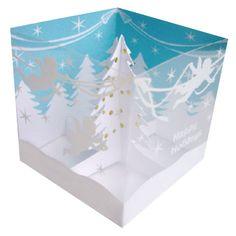 Greeting Life Tree Box Pop Up Christmas Mini Card HA-67