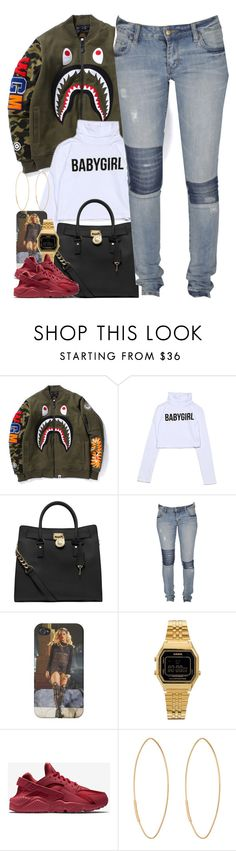 """Untitled #1489"" by power-beauty ❤ liked on Polyvore featuring MICHAEL Michael Kors, Lee, Casio, NIKE, Lana, women's clothing, women, female, woman and misses"