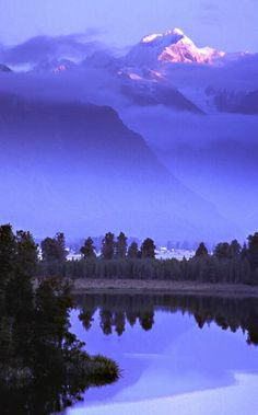 Mt. Tasman Sunrise from Lake Matheson, NZ