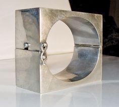 Vintage Taxco Deco Modernist Sterling Silver Cuff 127 Grams | eBay