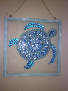 Glass chip sea turtle--SOLD  at ArTea Store, Palmetto, FL