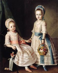 """Portrait of Two Sisters"" Carl Ludwig Christineck"