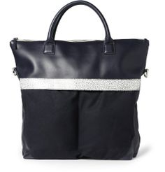 WANT Les Essentiels de la Vie - O'Hare II Leather-Trimmed Organic Cotton-Canvas Tote Bag | MR PORTER