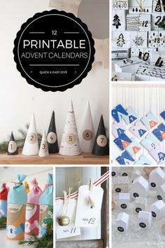 12 printable advent calendar DIYs - great for a last minute homemade advent calendar   Growing Spaces