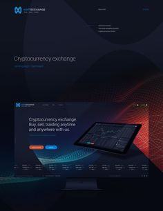 Cryptocurrency exchange dashboard+landing on Behance Tech Branding, Corporate Branding, Best Web Design, Ui Design, Graphic Design, Corporate Website, Ui Web, Landing Page Design, Creative Posters