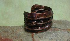 Foldformed Copper Cuff Bracelet Fold Formed. $30.00, via Etsy.