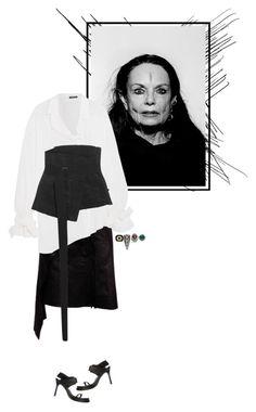 """Style Inspiration:Michèle Lamy"" by mariots22 ❤ liked on Polyvore featuring David Webb, Sevan Biçakçi, Ann Demeulemeester, Lynn Ban, NSR Nina Runsdorf and vintage"