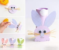 craft with paper roll - craft with paper . craft with paper towel roll . craft with paper plates . craft with paper cups . craft with paper for kids . craft with paper easy . craft with paper bags . craft with paper roll Easter Arts And Crafts, Fun Diy Crafts, Bunny Crafts, Crafts For Kids To Make, Easter Crafts For Kids, Spring Crafts, Decor Crafts, Easter Ideas, Kids Diy