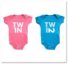 TWIN 1 / TWIN 2 Onesies