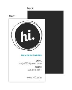Business/Calling Card - Hi (100 qty) for 28 dollars