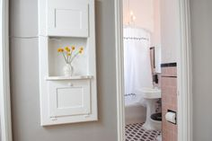 Decorating ideas for my pink tile bathroom. City Chic - eclectic - bathroom - san francisco - Ashley Roi Jenkins Design, LLC