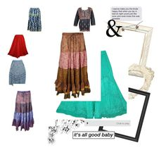 """Boho Fashion Skirt"" by tarini-tarini ❤ liked on Polyvore featuring Threshold, sale, festivalfashion and giftidea"