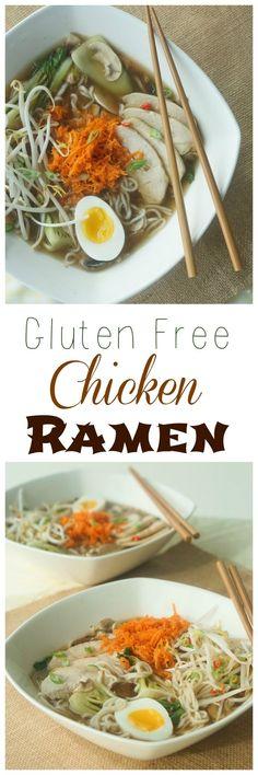 Make my yummy Gluten Free Chicken Ramen Recipe today!
