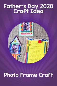 It's Father's Day 2020 this weekend! Check out this super simple and fun photo frame craft which will make the perfect Father's Day Gift idea from the kids!  #fathersday2020 #craft #kidsactivities #craftsforkids Photo Frames For Kids, Photo Frame Crafts, Activities For Kids, Crafts For Kids, Super Simple, Fathers Day Gifts, Crafty, Check, How To Make