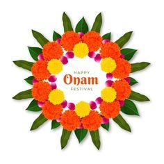 Graphic Design Branding, Modern Graphic Design, Onam Festival Kerala, Happy Onam, Vector Free, Floral, Projects, Celebration, Fonts