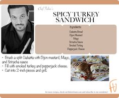 Spicy Turkey Sandwich #FabioForPresident