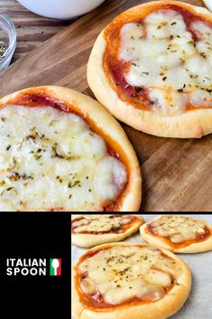 A tasty treat thats perfect for parties our recipe for pizzette (mini pizzas) is quick easy and delicious. Get the recipe today from Italian Spoon. Mini Pizza Recipes, Vegan Recipes, Mini Pizzas, Best Italian Recipes, Favourite Pizza, Fabulous Foods, Recipe Today, Quick Meals, Kids Meals