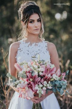 Buquê da noiva Camélia | Editorial Noiva de Evasê