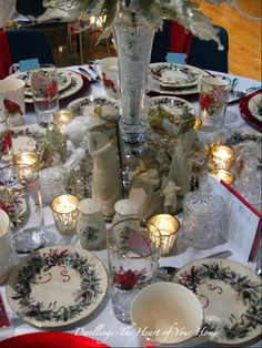 christmas tablescapes with nativity   DWELLINGS-The Heart of Your Home: CHRISTMAS TEA FESTIVAL OF TABLES