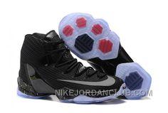 Mens Nike LeBron 13 Elite Black/Black-Reflect Silver-University Red Newest