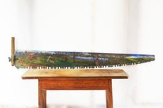 Decorative Hand Saw Extra Long Hand Painted Saw by Vintassentials