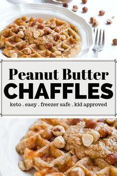 Peanut Butter Chaffle Recipe – A keto waffle that is peanut butter flavored! Hav… Peanut Butter Chaffle Recipe – A keto waffle that is peanut butter flavored! Keto Friendly Desserts, Low Carb Desserts, Low Carb Recipes, Peanut Recipes, Cheap Recipes, Keto Waffle, Waffle Recipes, Waffle Iron, Low Carb Breakfast