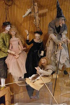 Marionettes and puppets by Anna Brahms.
