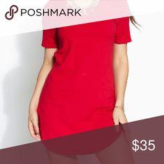 Red shirt dress! New tag still on! Dresses Midi