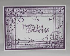 Geburtstagskarte - Pflaumenblau und Flüsterweiß - Sassy Salutations, Timeless Textures, Auf den ersten Blick - Dawanda