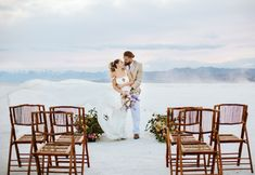 Spring elopement styled shoot at the Bonneville Salt Flats in Utah photographed by Swan Photo + Video. This shoot features a non-traditional green wedding dress for the first look, then a flowy white Carol Hannah gown. Styling and planning by Traveling Shoots with Taylor; florals by EventStems Green Wedding Dresses, Fort Worth Wedding, Elopement Inspiration, Swan, Love Story, Dallas, Florals, Traveling, Romantic