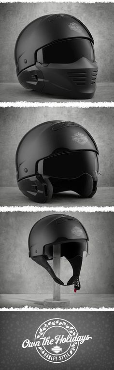 3 innovative options to wear for added comfort. | Harley-Davidson Pilot II 3-in-1 X04 Helmet