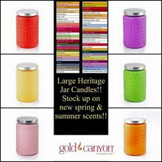 Heritage Gold Canyon Candles, Summer Scent, Clean House, Candle Jars, Queen, Website