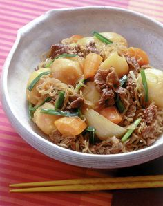 Japanese simmered potatoes and beef, Nikujaga | Japanese Food ...