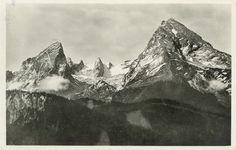 Der Watzmann auf einer alten Postkarte
