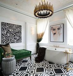 #Bathroom #White #Black #Green #Golden #Lighting #Chair #Tile - Architecture and Home Decor - Bedroom - Bathroom - Kitchen And Living Room Interior Design Decorating Ideas - #architecture #design #interiordesign #homedesign #architect #architectural #homedecor #realestate #contemporaryart #inspiration #creative #decor #decoration