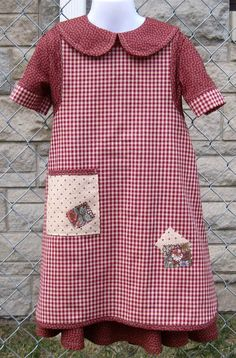 Annie Orphan Dress Costume 2pc Set Handmade by thecostumebootique