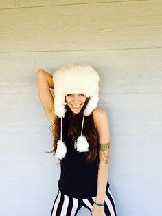 Alpaca Winter Hat lined with Sacred Geometry by BlackSheepMovement