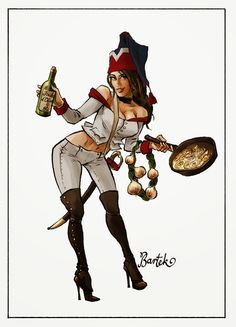 "pinup :: French ""soldier"" in her forage cap :: Military Women, Military Art, Comic Book Artists, Comic Artist, Bataille De Waterloo, Anime Uniform, Military Costumes, Comic Art Girls, Empire"